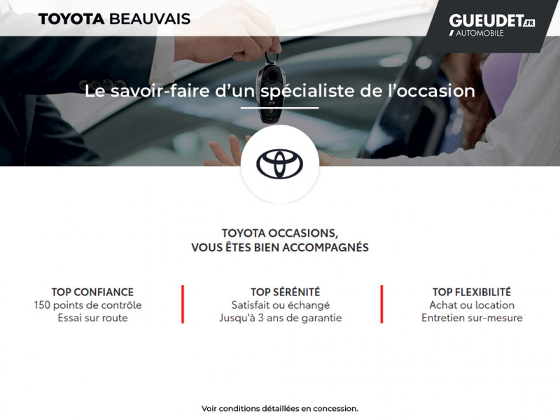 Toyota Aygo 1.0 VVT-i 72ch x-play 3p Blanc occasion à Beauvais - photo n°17