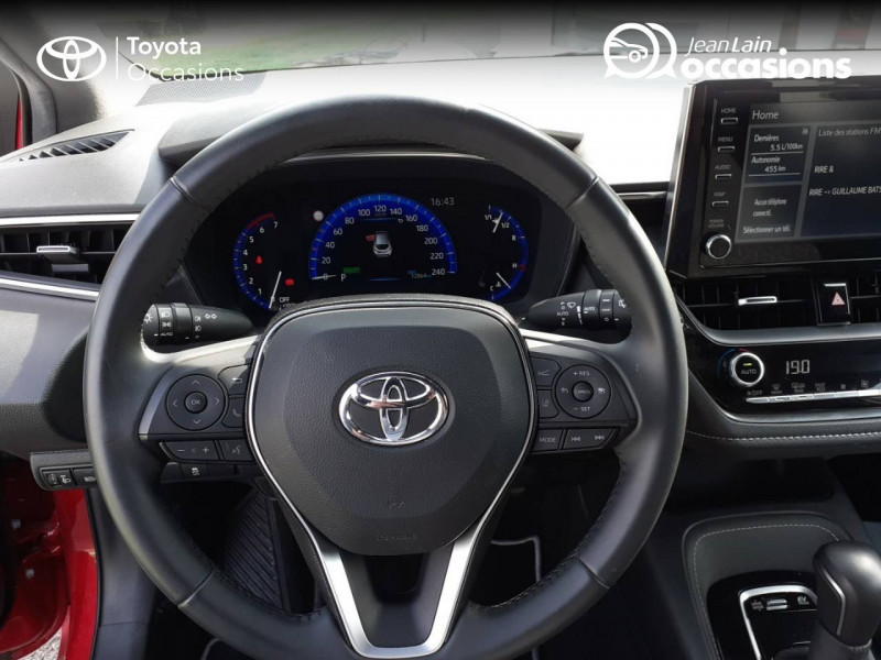 Toyota Corolla Corolla Hybride 122h Design 5p Rouge occasion à Seynod - photo n°12