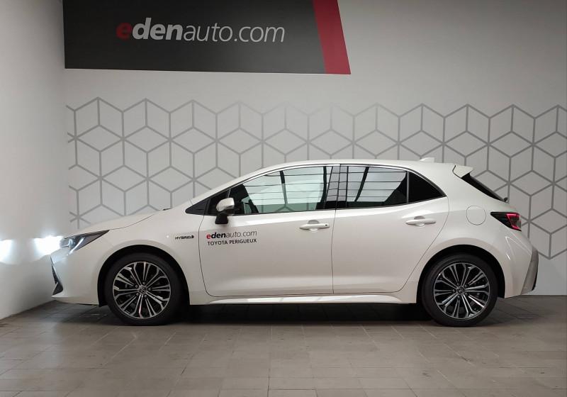 Toyota Corolla Corolla Hybride 122h Design 5p Blanc occasion à PERIGUEUX - photo n°3