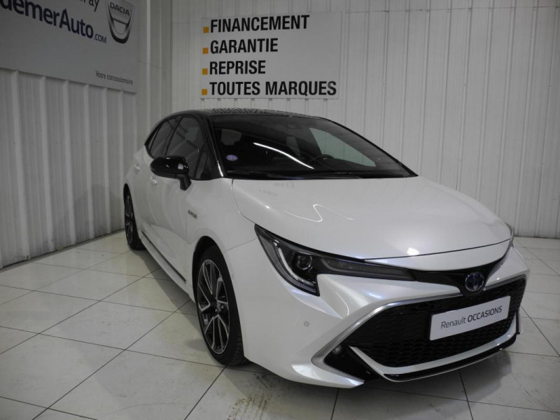 Toyota Corolla HYBRIDE 184h Collection Blanc occasion à AURAY - photo n°2