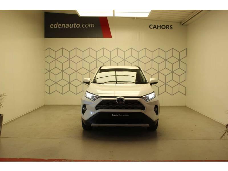 Toyota RAV 4 HYBRIDE 218 ch 2WD Dynamic Blanc occasion à Cahors - photo n°2