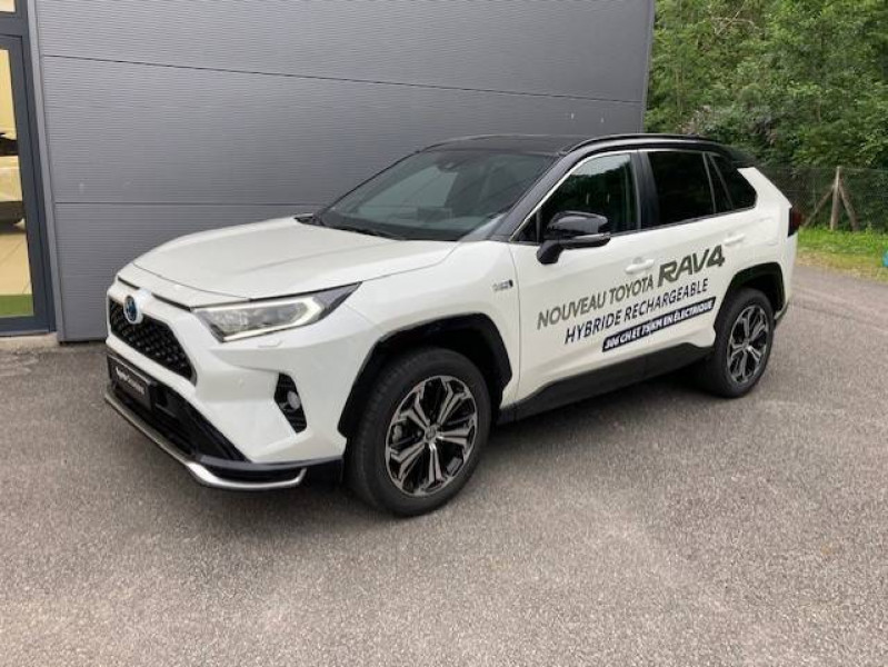 Toyota RAV 4 RAV4 Hybride Rechargeable AWD Collection 5p Blanc occasion à Tulle - photo n°3
