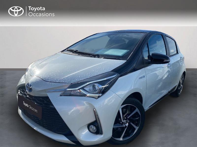 Toyota Yaris 100h Collection 5p MY19 Blanc occasion à NOYAL PONTIVY - photo n°3