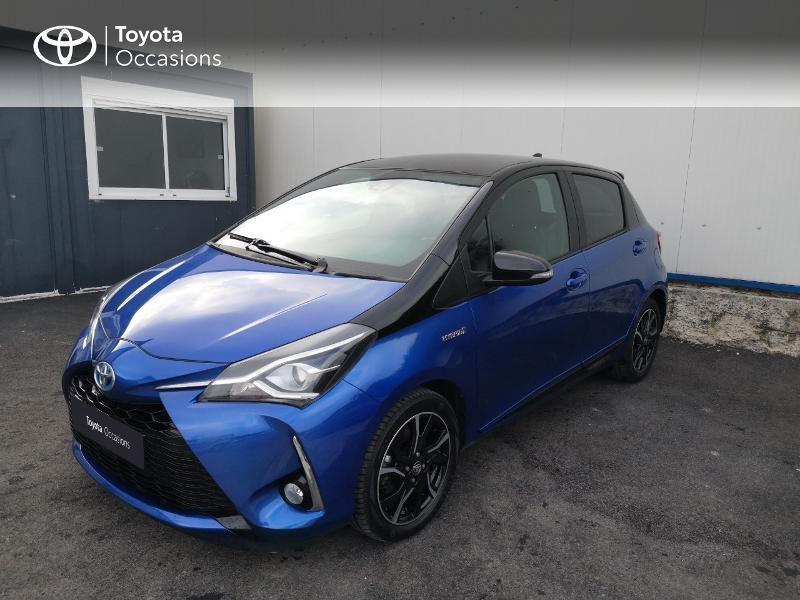 Toyota Yaris 100h Collection 5p Bleu occasion à Saint-Jouan-des-Guérets