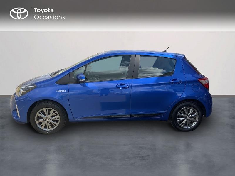 Toyota Yaris 100h Dynamic 5p MY19 Bleu occasion à Pluneret - photo n°3