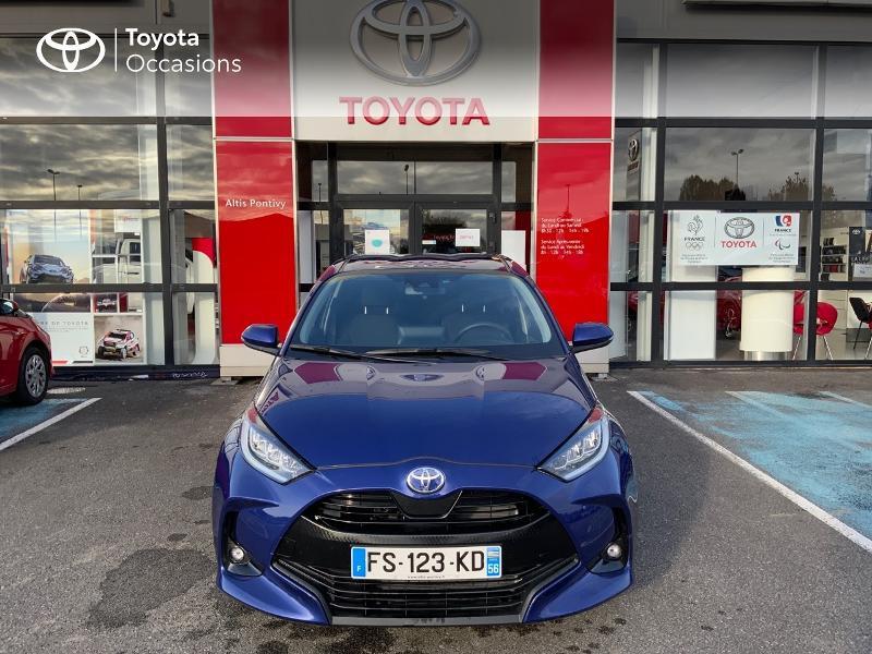 Toyota Yaris 120 VVT-i Design 5p Bleu occasion à NOYAL PONTIVY - photo n°5