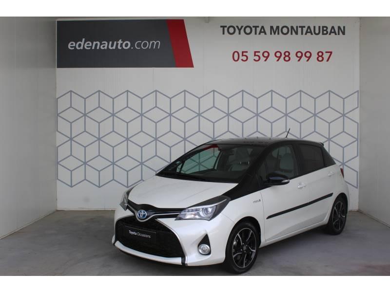 Toyota Yaris HYBRIDE LCA 2016 100h Collection Blanc occasion à Montauban