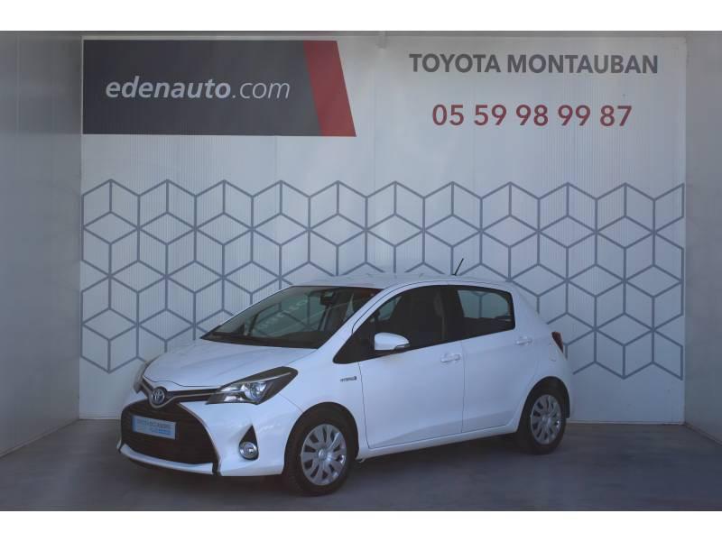Toyota Yaris HYBRIDE LCA 2016 100h Dynamic Blanc occasion à Montauban