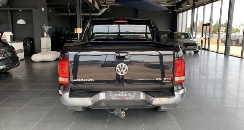Volkswagen Amarok DOUBLE CABINE 3.0 TDI 224 4MOTION 4X4 PERMANENT BVA8 AVENTUR Noir occasion à LE SOLER - photo n°5