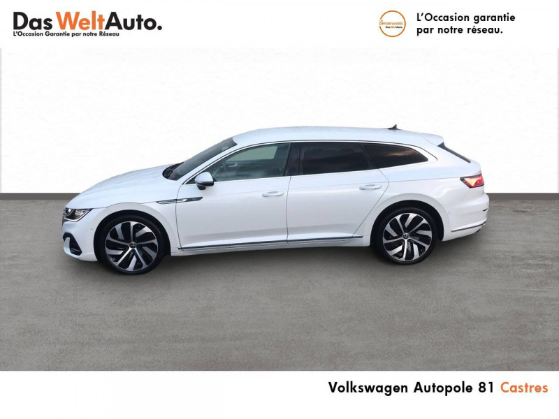 Volkswagen Arteon Arteon Shooting Brake 2.0 TDI EVO SCR 150 DSG7 R-Line 5p Blanc occasion à Castres - photo n°3