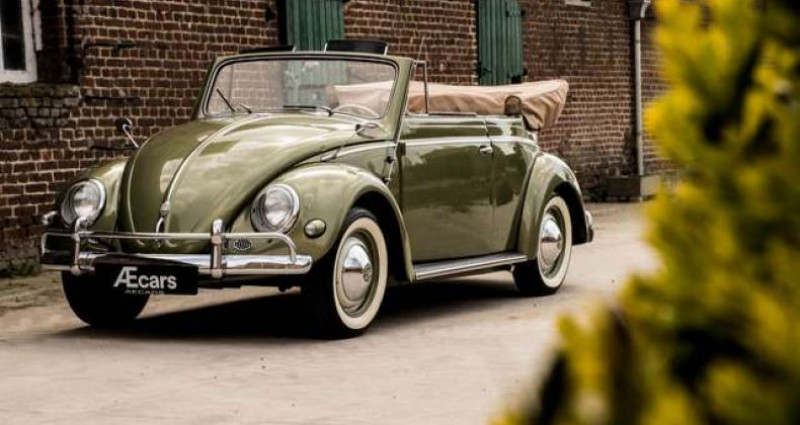 Volkswagen Beetle OVAL KARMANN KABRIOLETT - COLLECTORS ITEM Vert occasion à IZEGEM