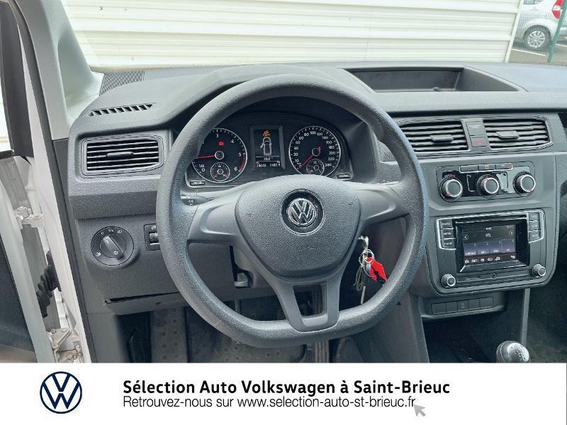 Volkswagen Caddy Van 2.0 TDI 75ch Business Line Blanc occasion à Saint Brieuc - photo n°7