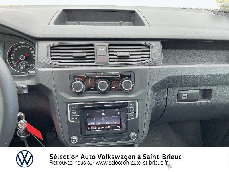 Volkswagen Caddy Van 2.0 TDI 75ch Business Line Blanc occasion à Saint Brieuc - photo n°6