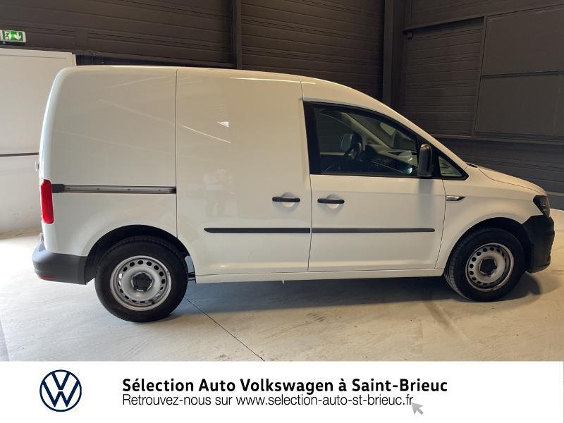 Volkswagen Caddy Van 2.0 TDI 75ch Business Line Blanc occasion à Saint Brieuc - photo n°4