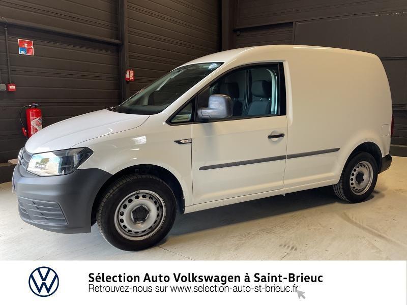 Volkswagen Caddy Van 2.0 TDI 75ch Business Line Blanc occasion à Saint Brieuc - photo n°17