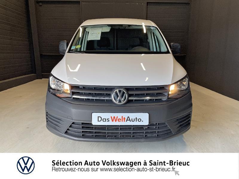 Volkswagen Caddy Van 2.0 TDI 75ch Business Line Blanc occasion à Saint Brieuc - photo n°5