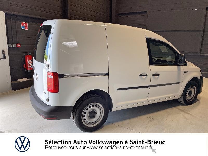 Volkswagen Caddy Van 2.0 TDI 75ch Business Line Blanc occasion à Saint Brieuc - photo n°3
