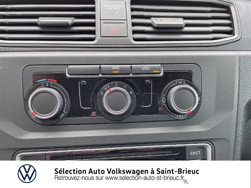 Volkswagen Caddy Van 2.0 TDI 75ch Business Line Blanc occasion à Saint Brieuc - photo n°10