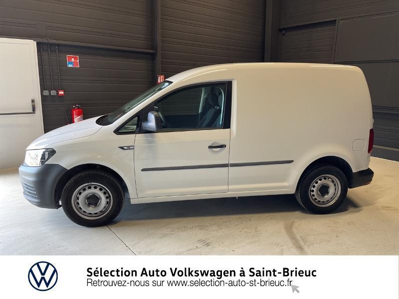 Volkswagen Caddy Van 2.0 TDI 75ch Business Line Blanc occasion à Saint Brieuc - photo n°2