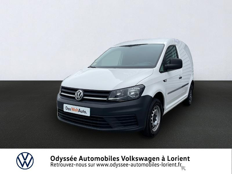 Volkswagen Caddy Van 2.0 TDI 75ch Van Blanc occasion à Lanester