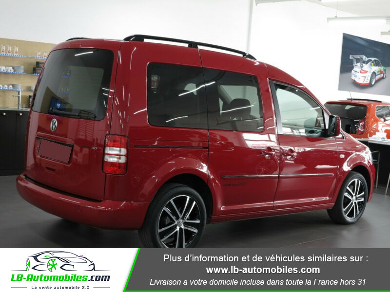 Volkswagen Caddy 2.0 TDI 140 DSG Rouge occasion à Beaupuy - photo n°3