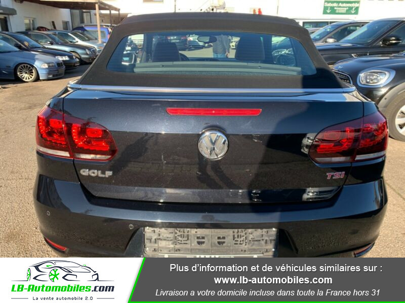 Volkswagen Golf Cabriolet 1.4 TSI 160 DSG Noir occasion à Beaupuy - photo n°7