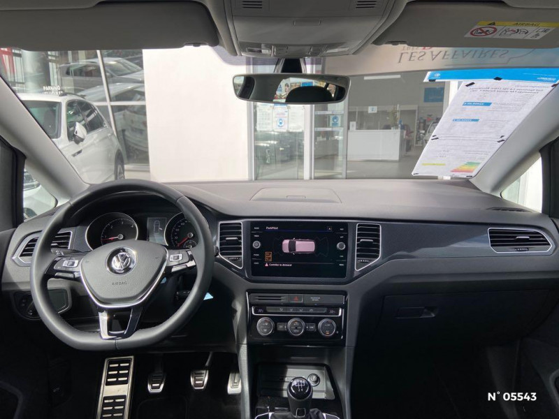 Volkswagen Golf Sportsvan 1.6 TDI 115ch BlueMotion Technology FAP United Euro6d-T Noir occasion à Beauvais - photo n°10