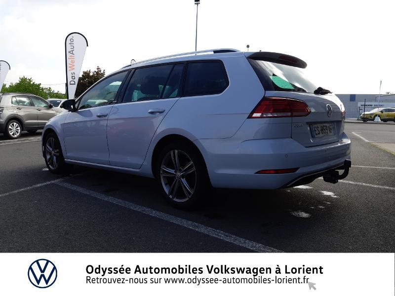 Volkswagen Golf SW 1.6 TDI 115ch FAP BlueMotion Technology First Edition DSG7 Blanc occasion à Lanester - photo n°4
