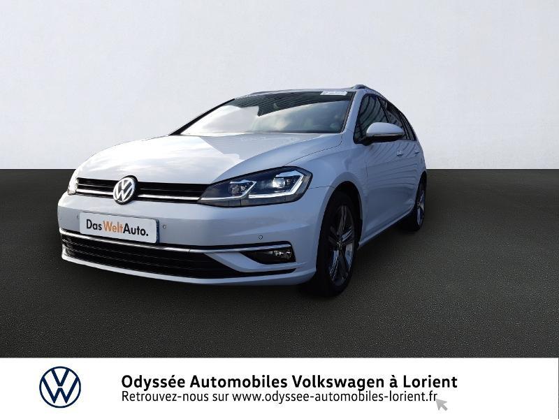 Volkswagen Golf SW 1.6 TDI 115ch FAP BlueMotion Technology First Edition DSG7 Blanc occasion à Lanester - photo n°3
