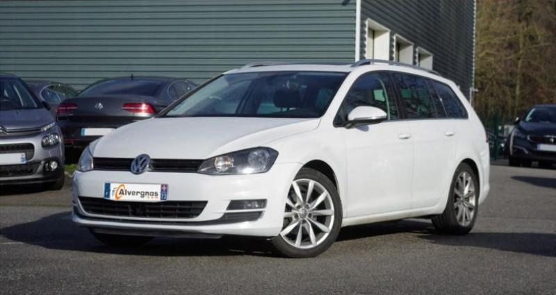 Volkswagen Golf SW VII SW 2.0 TDI 150 BLUEMOTION TECHNOLOGY CARAT DSG6 Blanc occasion à Chambourcy