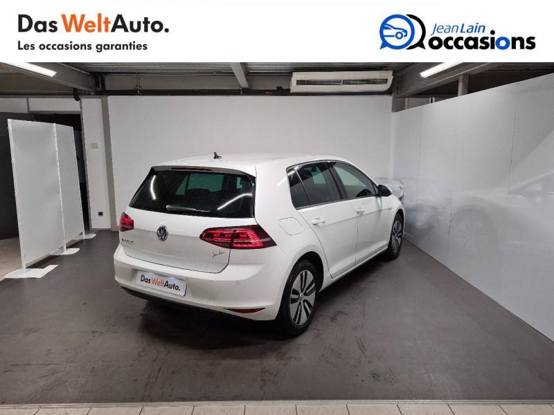 Volkswagen Golf VII E-Golf 115 Electrique 5p Blanc occasion à La Motte-Servolex - photo n°5