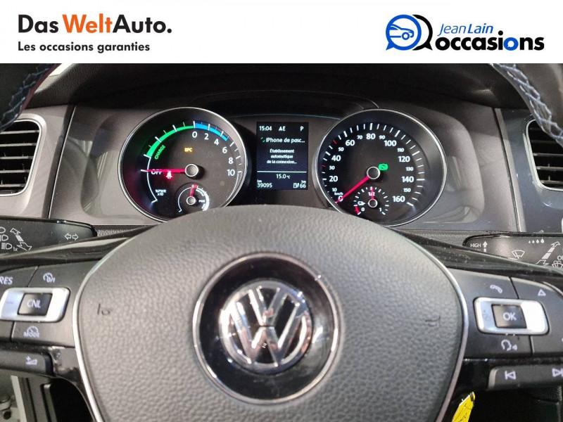Volkswagen Golf VII E-Golf 115 Electrique 5p Blanc occasion à La Motte-Servolex - photo n°12