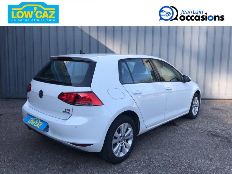 Volkswagen Golf VII Golf 1.6 TDI 110 BlueMotion Technology FAP DSG7 Confortline  Blanc occasion à La Ravoire - photo n°5