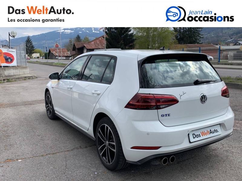 Volkswagen Golf VII Golf Hybride Rechargeable 1.4 TSI 204 DSG6 GTE 5p Blanc occasion à Sallanches - photo n°7