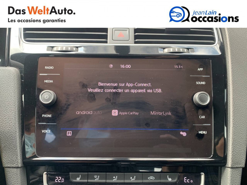 Volkswagen Golf VII Golf Hybride Rechargeable 1.4 TSI 204 DSG6 GTE 5p Blanc occasion à Sallanches - photo n°15