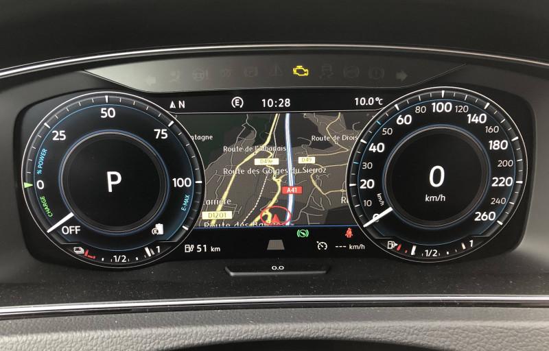 Volkswagen Golf VII Golf Hybride Rechargeable 1.4 TSI 204 DSG6 GTE 5p Noir occasion à Grésy-sur-Aix - photo n°10