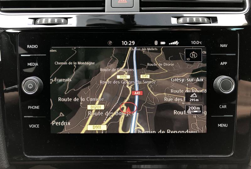 Volkswagen Golf VII Golf Hybride Rechargeable 1.4 TSI 204 DSG6 GTE 5p Noir occasion à Grésy-sur-Aix - photo n°12