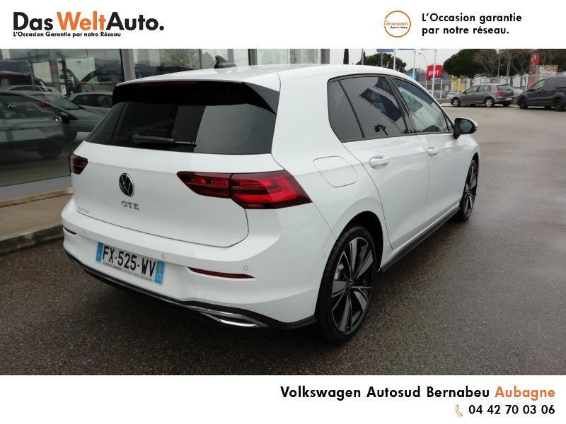 Volkswagen Golf 1.4 TSI 204ch Hybride Rechargeable GTE DSG6 Euro6d-T 5p 8cv Blanc occasion à AUBAGNE - photo n°4