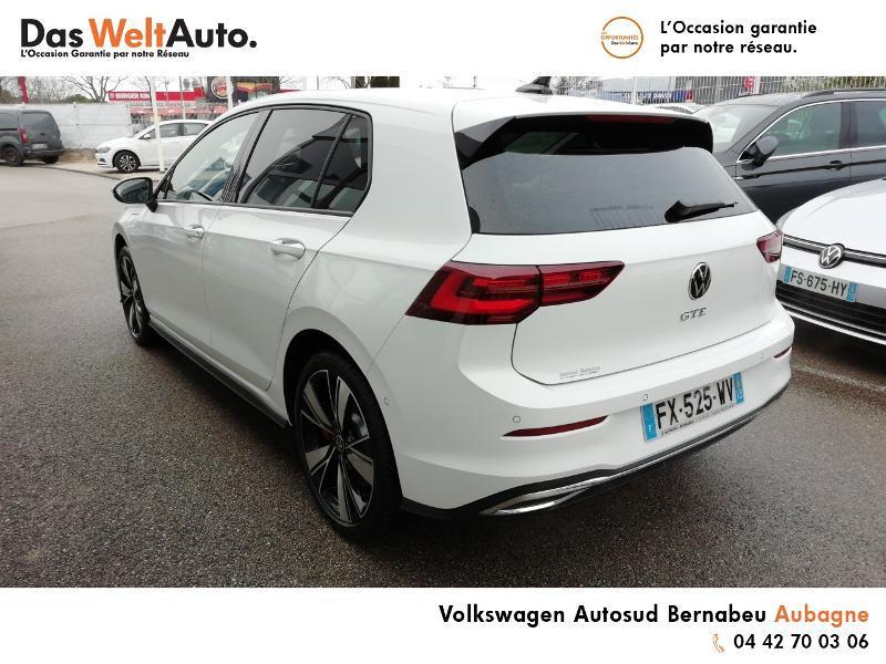 Volkswagen Golf 1.4 TSI 204ch Hybride Rechargeable GTE DSG6 Euro6d-T 5p 8cv Blanc occasion à AUBAGNE - photo n°3