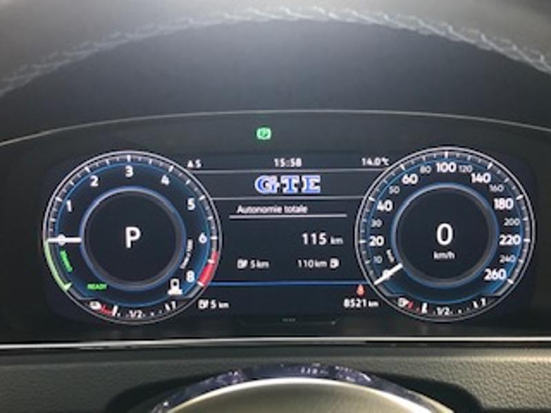 Volkswagen Golf 1.4 TSI 204ch Hybride Rechargeable GTE DSG6 Euro6d-T 5p Blanc occasion à LESCAR - photo n°5