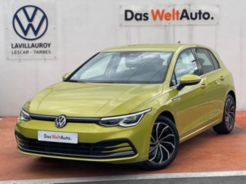 Volkswagen Golf 1.5 eTSI OPF 150ch Style 1st DSG7 Jaune occasion à LESCAR