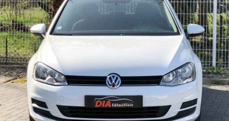 Volkswagen Golf 1.6 TDI 105CH BLUEMOTION TECHNOLOGY FAP TRENDLINE 5P Blanc occasion à COLMAR - photo n°5