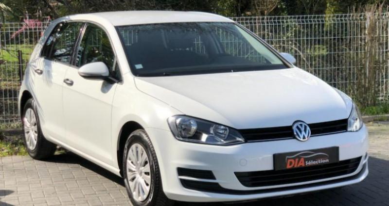 Volkswagen Golf 1.6 TDI 105CH BLUEMOTION TECHNOLOGY FAP TRENDLINE 5P Blanc occasion à COLMAR - photo n°4