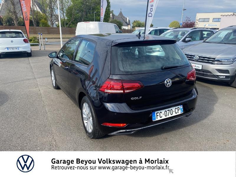Volkswagen Golf 1.6 TDI 115ch FAP Confortline Business 3p Noir occasion à Saint-Martin-des-Champs - photo n°3