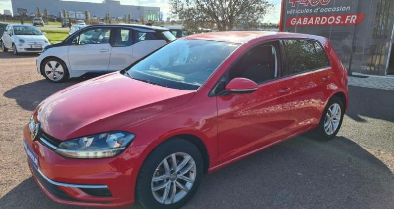 Volkswagen Golf ADVANCE + GPS VII TDI 115 Rouge occasion à SAINTES