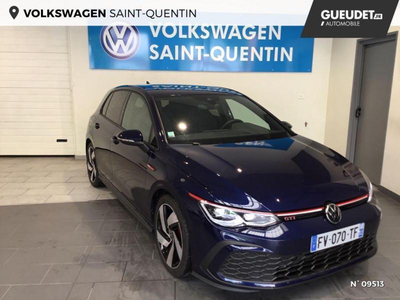 Volkswagen Golf GOLF 8 2.0 TSI 245 CH DSG7 GTI SANS LED ANTIBROUILLARDS Bleu occasion à Saint-Quentin