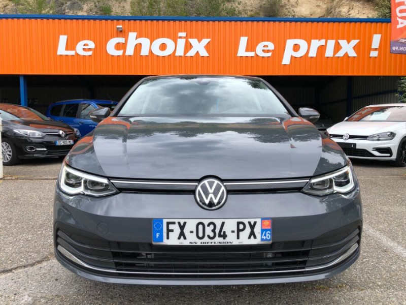 Volkswagen Golf VIII 2.0 TDI 150 DSG STYLE FULL LED 3ans Gtie. Caméra Gris occasion à Cahors - photo n°2