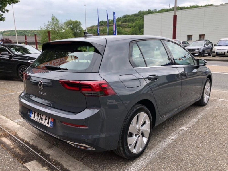 Volkswagen Golf VIII 2.0 TDI 150 DSG STYLE FULL LED 3ans Gtie. Caméra Gris occasion à Cahors - photo n°5