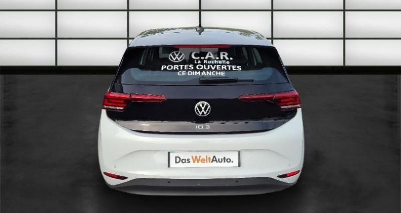 Volkswagen ID.3 58 kWh - 145ch Life Blanc occasion à La Rochelle - photo n°4