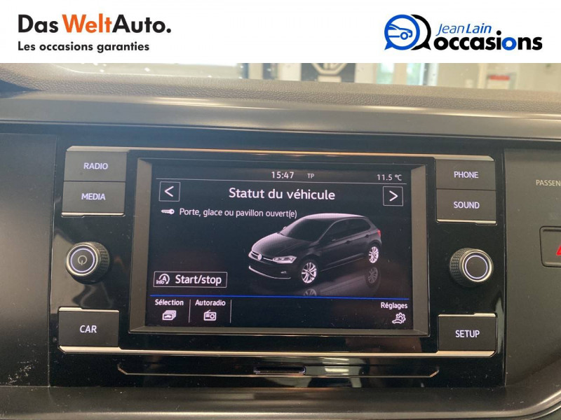 Volkswagen Polo VI Polo 1.0 65 S&S BVM5 Trendline 5p Blanc occasion à Voiron - photo n°16